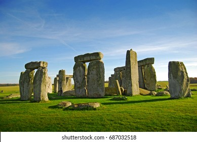 Salisbury, United Kingdom - November 13, 2016: Stonehenge - one of the wonders of the world and the best-known prehistoric monument in Europe