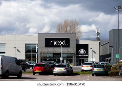 Salisbury, Wiltshire, England - March 30, 2019: Next store, high street fashion and homeware retailer, company founded by Joseph Hepworth in Leeds in 1864