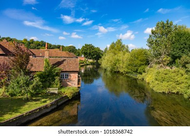 Salisbury Wiltshire England September 9, 2016 Old buildings beside the River Avon at Salisbury