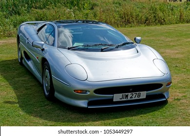 Salisbury, Wiltshire, UK - August 10, 2014: A Jaguar XJ220 two-seater Supercar at a car show