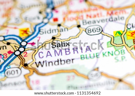 Pennsylvania In Usa Map.Salix Pennsylvania Usa On Map Stock Photo Edit Now 1131354692