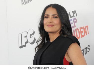 Salma Hayek at the 2018 Film Independent Spirit Awards held at Santa Monica Beach, USA on March 3, 2018.