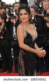 """Salma Hayek at the gala screening of """"Madagascar 3:Europe's Most Wanted"""" at the 65th Festival de Cannes. May 18, 2012  Cannes, France Picture: Paul Smith / Featureflash"""