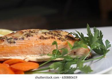 salmon and carot