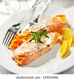 Salmon with Dressing