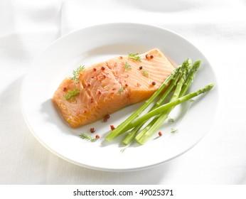 Salmon filet menue