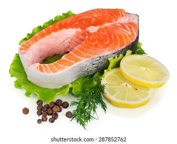 Salmon, fillet, fresh.