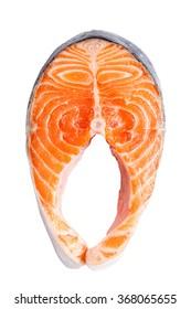 Salmon fillet slices