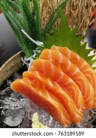 Salmon and ice