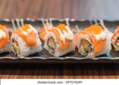 salmon maki - japanese food