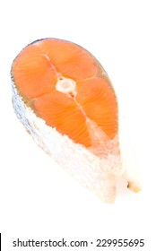 Salmon meat isolated on white background