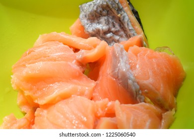 Salmon Orange Put on a green cup