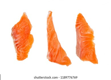 Salmon piece isolated on white background - clipping paths