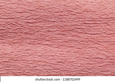 Salmon Pink crepe fabric cloth - Shutterstock ID 1188702499