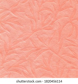 Salmon Pink Embossed Decorative Paper Textured Background HD