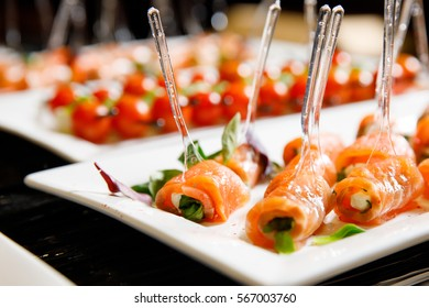 salmon rolls catering