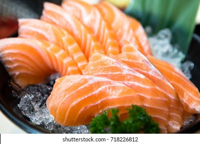 Salmon Sashimi, Japanese food
