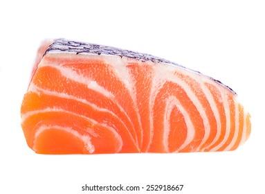 salmon slice isolated