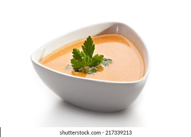 Salmon Soup Bowl with Parsley