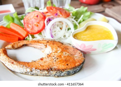 Salmon steak is delicious no.4