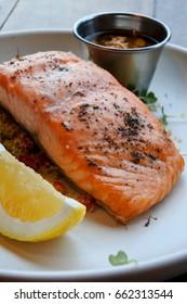 salmon steak healthy recipe