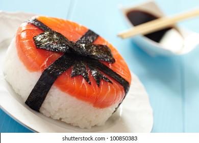 Salmon Sushi Cake with Ribbon