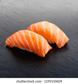 salmon sushi japanese food traditional raw fish with rice and vinegar