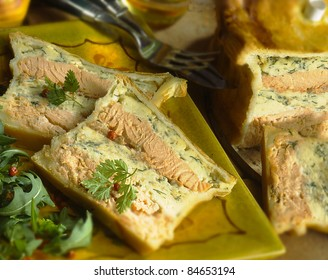 Salmon terrine in pastry crust