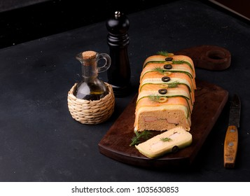 salmon terrine and surimi
