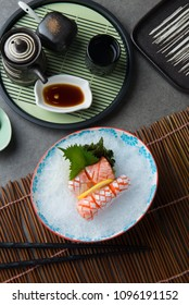 Salmon Toro , Fish belly  Japanese sashimi Food