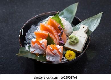 Salmon toro sashimi a great Japanese food