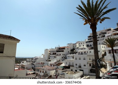 Salobrenya, province of Andalucia, Spain â?? April 13, 2014: White houses in the seaside town of Salobrenya in April 13, 2014, Spain.