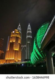 Saloma link in Kuala Lumpur. New tourist attraction in Kuala Lumpur which was launched early 2020. This location location near to KLCC tower