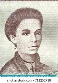 Salome Urena de Henriquez portrait from Dominican money