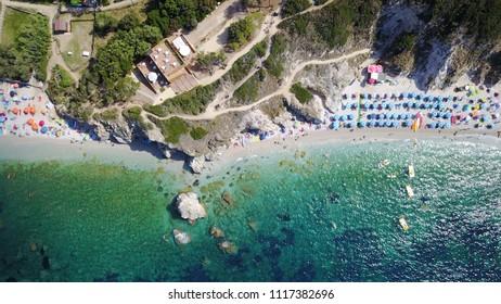 Salomone beach aerial view