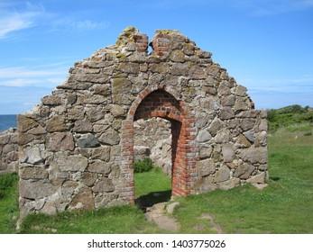 Salomons Kapel near Hammershus on the island of Bornholm (Denmark), once used by herring fishers