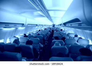 Salon of airplane