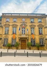 Salon de Provence, France - June 2021 : Hotel de Ville, city hall of Salon de Provence
