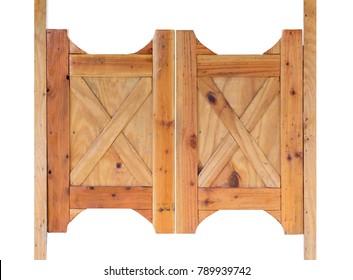 Saloon door isolated on white background