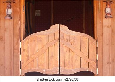 Saloon doors, wild west concept