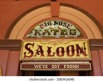 Saloon sign in Tombstone, Arizona, USA. o4/20/2018. For editorial use only