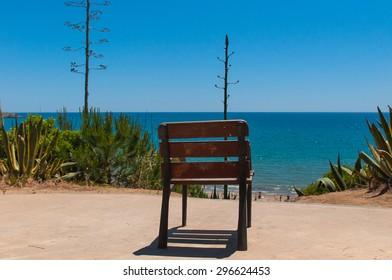 Salou beach at the morning  in Salou Tarragona Spain Catalonia.