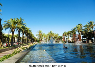 Salou, Spain - August 13, 2017: Salou is one of the largest tourist cities in Spain.