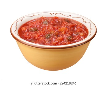 Salsa Bowl isolated on a white background with a clipping path.