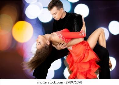 Salsa Dancing, Dancing, Couple.