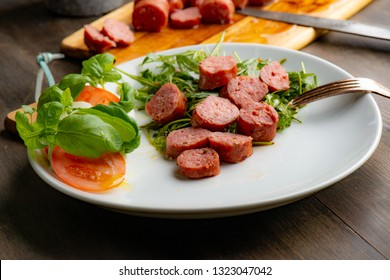 Salsiccia sausage in pan