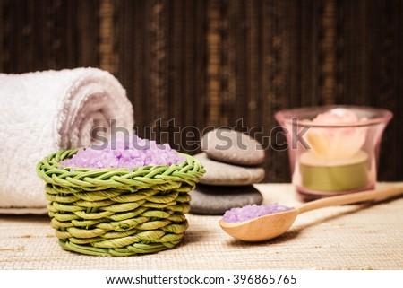 Salt Bath Spa Body Hygiene Natural Stock Photo (Edit Now) 396865765 ...