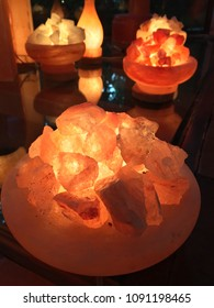 Salt cave and lighting