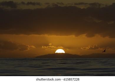 Salt Creek Sunset 2 Behind Catalina Island, CA