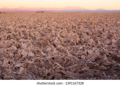 Salt crust in the Salar de Atacama (Atacama Salt Lake), Soncor, Atacama desert, Antofagasta Region, Chile